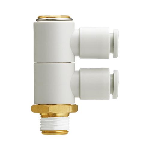 SMC:ダブルユニバーサルエルボ(シール剤) 型式:KQ2VD12-04AS(1セット:10個入)