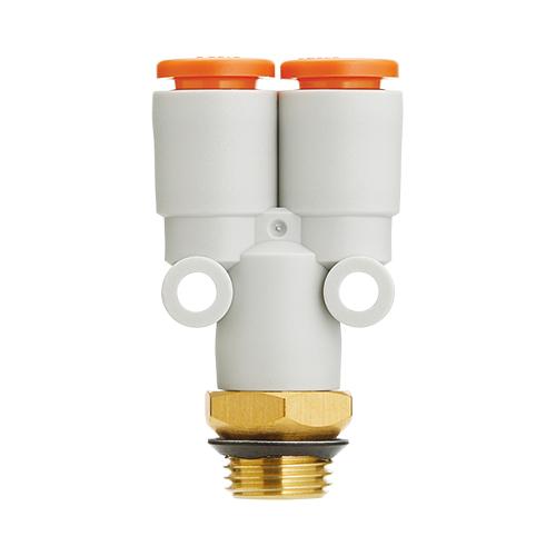 SMC:ブランチ(ガスケットシール) 型式:KQ2U13-U03A(1セット:10個入)