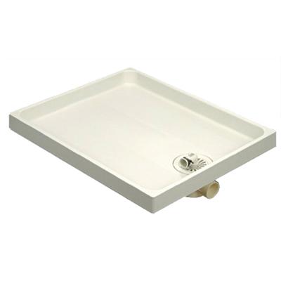 アウス:樹脂製洗濯機防水パン 型式:PW-800 C トラップ付き(横型)