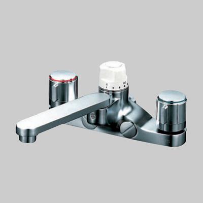 KVK:デッキ形定量止水付2ハンドル混合栓 型式:KM296Z
