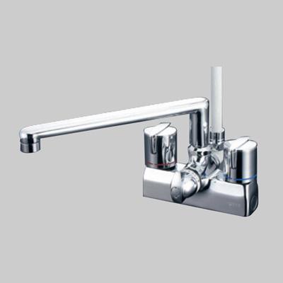KVK:デッキ形一時止水付2ハンドルシャワー 型式:KF205G