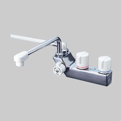 KVK:デッキ形一時止水付2ハンドルシャワー 型式:KF207ZRR3