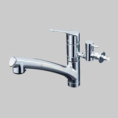 KVK:流し台用シングルレバー式シャワー付混合栓 型式:KM5021TTU