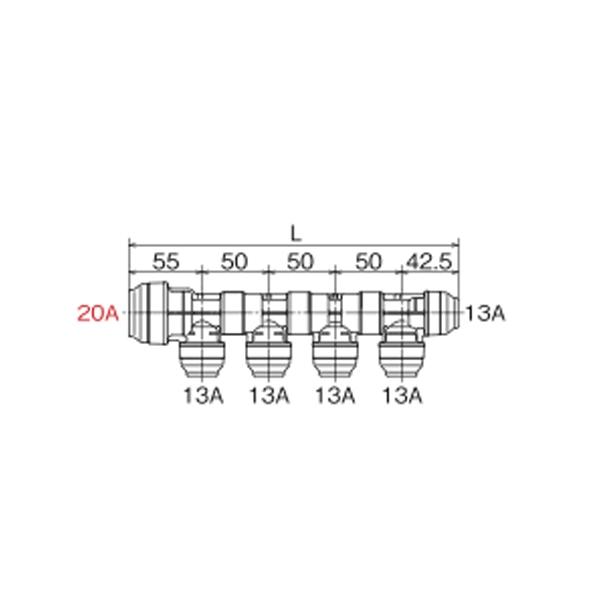 オンダ製作所:CA型回転ヘッダーPB<WH1C-CA>型式:WH1C-CA10(1セット:6個入)