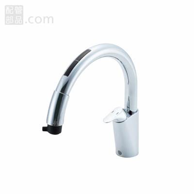 LIXIL(INAX):タッチレス水栓浄水器ビルトイン型 ナビッシュB6タイプ 型式:JF-NB466SX(JW)