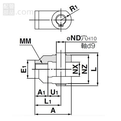 SMC:二山ナックルジョイント鋳鉄 型式:Y-G08(1セット:10個入)