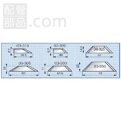ノガ・ジャパン:スリムホルダー内径用ブレード 型式:KP03-325-14