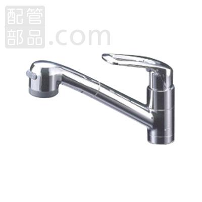 ミズタニバルブ工業:台付シングルレバー混合栓 引き出しシャワー仕様 型式:MKZ630MMDAH