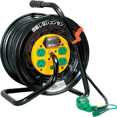 日動工業:日動 電工ドラム マジックリール 100V アース漏電しゃ断器付30m TZ-EB34 型式:TZ-EB34