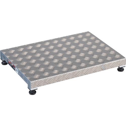 トラスコ中山:TRUSCO 低床用アルミ製ステップ 600X450XH90~120 TFS-0645AL 型式:TFS-0645AL