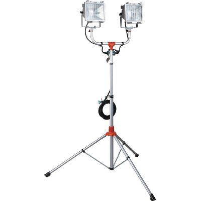 ハタヤリミテッド:ハタヤ 防雨型スタンド付ハロゲンライト 500W×2灯 100V電線5m PHCX-505N 型式:PHCX-505N