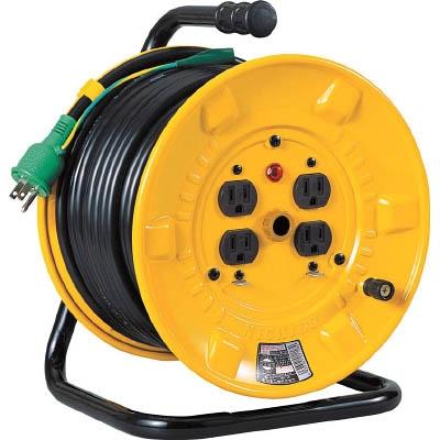 日動工業:日動 電工ドラム 標準型100Vドラム アース付 30m NP-E34 型式:NP-E34