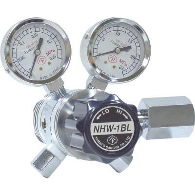 ヤマト産業:ヤマト 分析機用フィン付二段微圧調整器 NHW-1BL NHW1BLTRC 型式:NHW1BLTRC