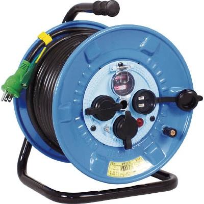日動工業:日動 電工ドラム 防雨防塵型100Vドラム アース過負荷漏電しゃ断器 30m NPW-EK33 型式:NPW-EK33