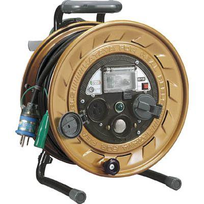 ハタヤリミテッド:ハタヤ メタルセンサーリール 単相100V接地付 30m 接地抵抗可変式 MSB-301KVX 型式:MSB-301KVX