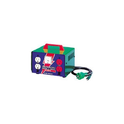 日動工業:日動 変圧器 昇圧器ハイパワー 2KVA アース付タイプ M-E20 型式:M-E20