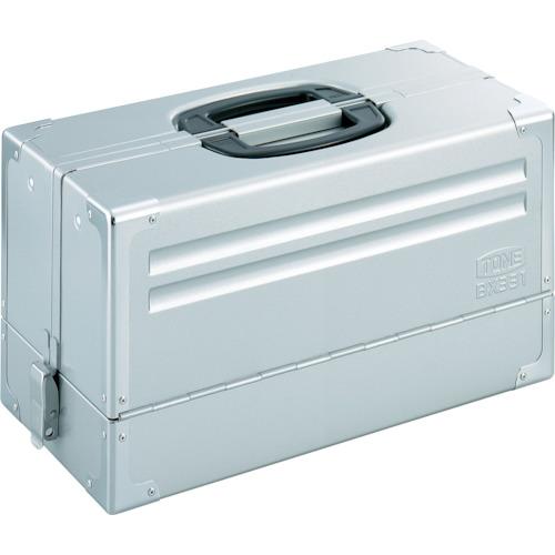 TONE:TONE ツールケース(メタル) V形3段式 シルバー BX331SV 型式:BX331SV