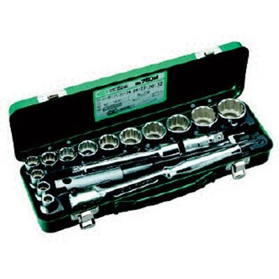 TONE:TONE ソケットレンチセット 差込角12.7mm 17点セット 760M 型式:760M