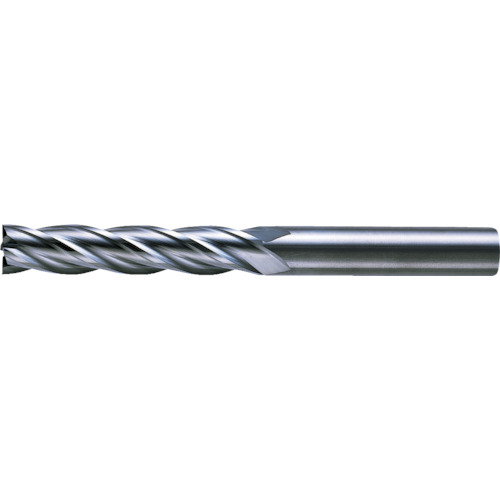 三菱マテリアルツールズ:三菱K 4枚刃超硬センタカットエンドミル(ロング刃長) ノンコート 6mm C4LCD0600 型式:C4LCD0600