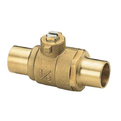 オンダ製作所:S1型(ソルダー)ボールバルブ 黄銅製 お買得パック <S1> 型式:S1-09(1セット:100個入)