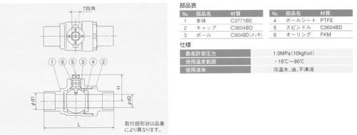オンダ製作所:S1型(ソルダー)ボールバルブ黄銅製お買得パック<S1>:S1-12(大箱100個入)