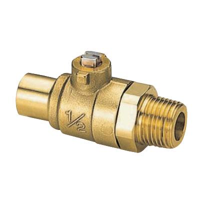 オンダ製作所:S3型(ソルダー)ボールバルブ 黄銅製 お買得パック <S3> 型式:S3-1213(1セット:10個入)