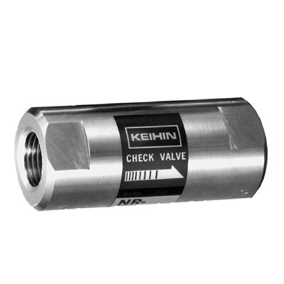 ケイヒン:NR2-Sシリーズ (インライン型逆止弁) 型式:NR2-S-25(テフロン)