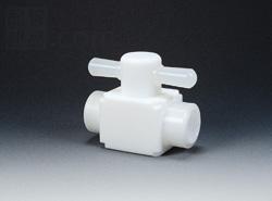 フロンケミカル:フッ素 メス二方バルブ圧入型 型式:NR0006-003