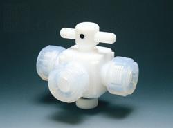 フロンケミカル:オールフッ素 三方バルブ 型式:NR0030-004