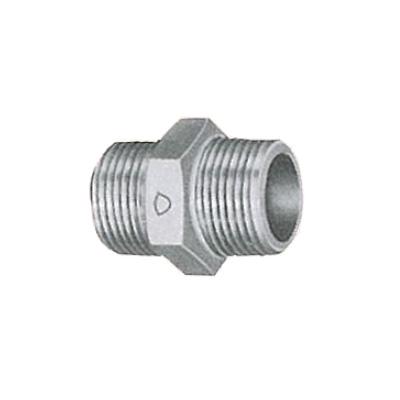 帝国金属:白継手 六角ニップル (お買い得パック) 型式:NI-1/8-白-カブト(1セット:600個入)