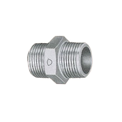 帝国金属:白継手 六角ニップル (お買い得パック) 型式:NI-3/8-白-カブト(1セット:320個入)