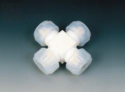 フロンケミカル:フッ素 接続ジョイント十字型 型式:NR1003-003