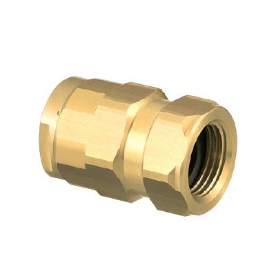 オンダ製作所:ダブルロックジョイント アダプター 黄銅製 型式:WJ7A-2020-S(1セット:8個入)