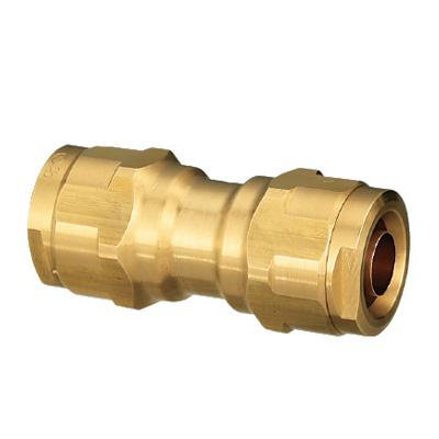 オンダ製作所:ダブルロックジョイント 同径ソケット 黄銅製 型式:WJ3A-16-S(1セット:40個入)