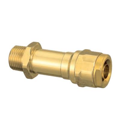 オンダ製作所:ダブルロックジョイント 水栓胴長アダプター 黄銅製 型式:WJ12-1313-S(1セット:10個入)