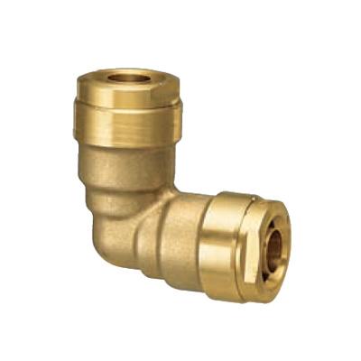 オンダ製作所:ダブルロックジョイント 同径エルボソケット 黄銅製 型式:WL3C-16-S(1セット:10個入)