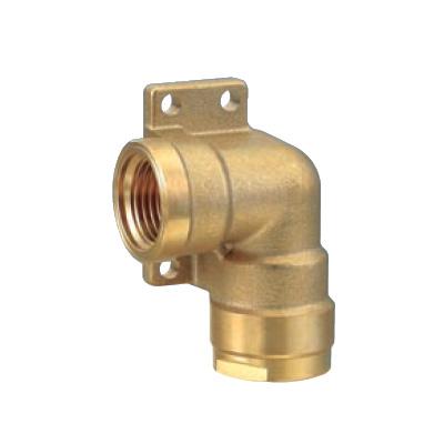 オンダ製作所:ダブルロックジョイント 左座水栓エルボ 黄銅製 型式:WL14-1313-S(1セット:10個入)