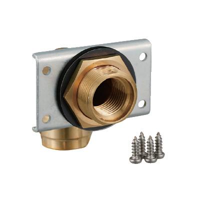 オンダ製作所:ダブルロックジョイント UB壁貫通金具 シングル 黄銅製 型式:WL11A-2016-S-1P(1セット:4個入)