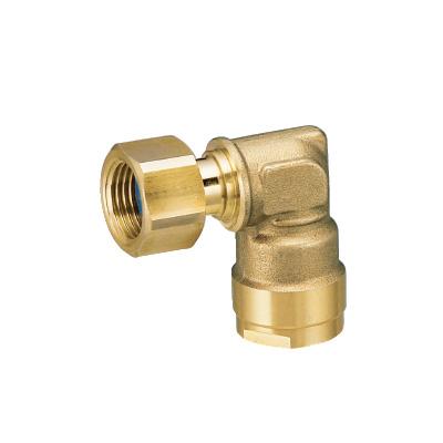 オンダ製作所:ダブルロックジョイント エルボアダプター 黄銅製 型式:WL12-1313-S(1セット:10個入)