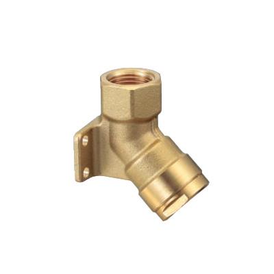 オンダ製作所:ダブルロックジョイント 床下横取付アダプター 黄銅製 型式:WL35-1313-S(1セット:40個入)