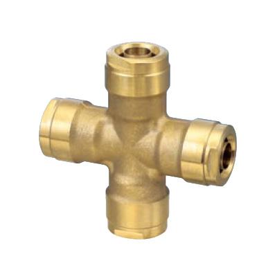 オンダ製作所:ダブルロックジョイント クロスソケット 黄銅製 型式:WX13C-1613-S(1セット:4個入)
