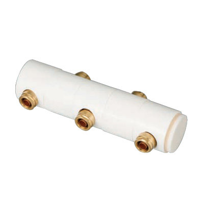 オンダ製作所:回転ヘッダーセット 両端Rc3/4×止(端末キャップ付) 黄銅製 型式:WRHS13-1307-S(1セット:6個入)