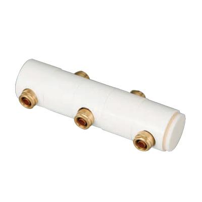 オンダ製作所:回転ヘッダーセット 両端Rc3/4×止(端末キャップ付) 黄銅製 型式:WRHS13-1306-S