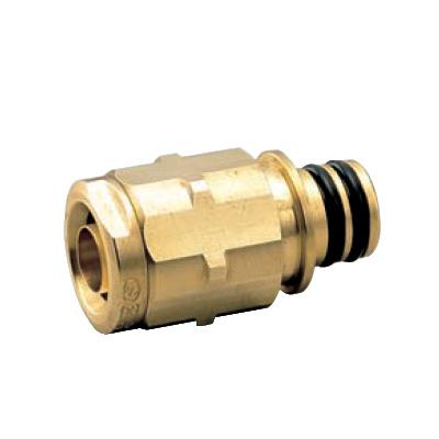 オンダ製作所:クイックジョイント給水給湯用 ダブルロックジョイント 黄銅製 (お買い得パック) 型式:QPJ24-1014-S(1セット:80個入)
