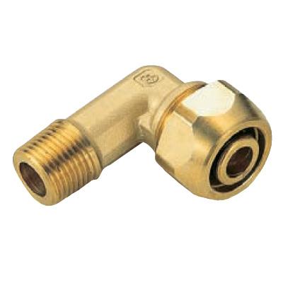 オンダ製作所:ポリ管ジョイント エルボ外ねじ 黄銅製 (お買い得パック) 型式:SR-825(1セット:80個入)