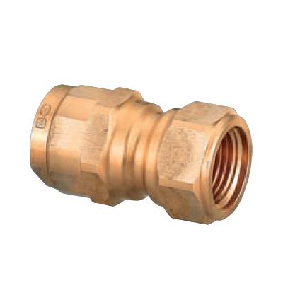 オンダ製作所:ダブルロックジョイント 平行めねじ(Rp) 青銅製 型式:WJ14-1313C-S(1セット:20個入)