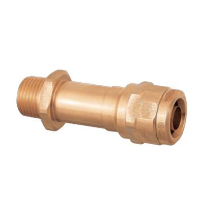 オンダ製作所:ダブルロックジョイント 水栓胴長アダプター 青銅製 お買い得パック 型式:WJ12-1313C-S(1セット:40個入)