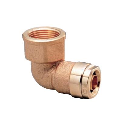 オンダ製作所:ダブルロックジョイント エルボテーパめねじ 青銅製 型式:WL2-2013C-S(1セット:10個入)
