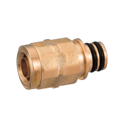 オンダ製作所:クイックジョイント給水給湯用 ダブルロックジョイント 青銅製 (お買い得パック) 型式:QPJ24-1014C-S(1セット:80個入)