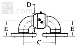 昭和技研工業:パールスイベルジョイント CS型 スタイルNo.3 型式:パールCS-3-100A
